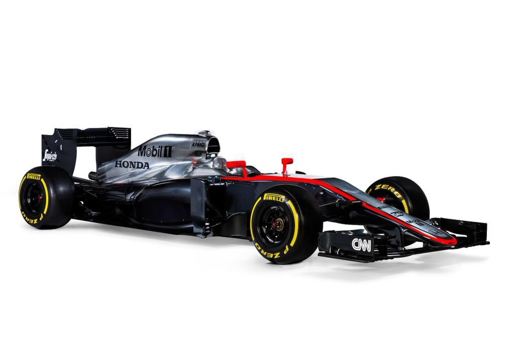 Ebenfalls am Donnerstag vorgestellt: Der neue McLaren MP4-30 von Fernando Alonso  und Jenson Button wirkt schmaler als sein Vorgänger. Credit: McLaren