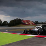 Dunkle Wolken über Alonsos McLaren vor dem Crash in Barcelona. Copyright; McLaren