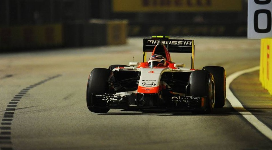 Marussia in Singapur 2014. Copyright: Marussia