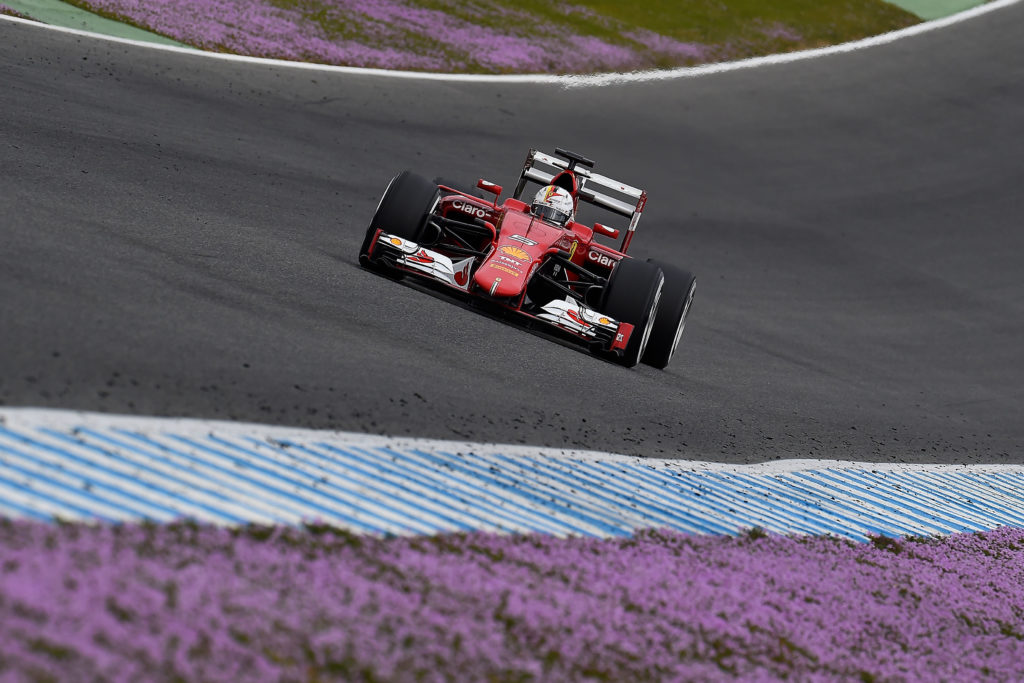 Vettel beim Test in Jerez. Credit: Ferrari