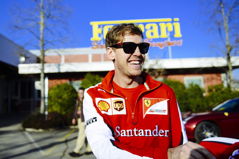 Vettel bei Ferrari in Maranello. Copyright: Ferrari