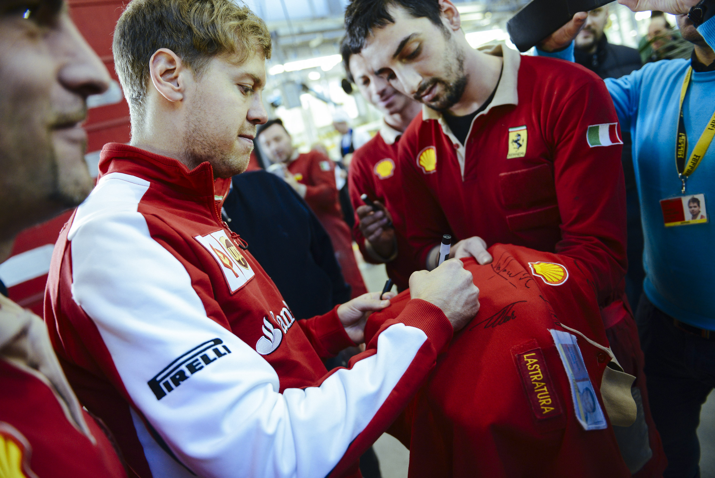 Vettel in Maranello. Copyright: Ferrari