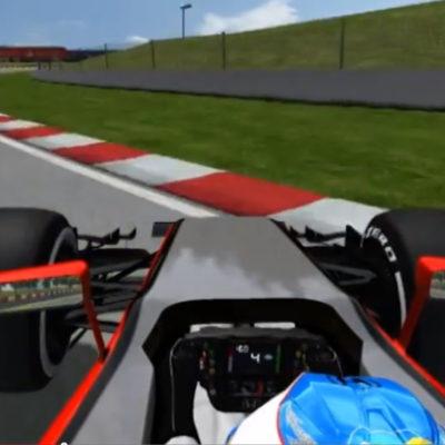 Fan-Simulation von Alonsos Crash. Copyright: Youtube