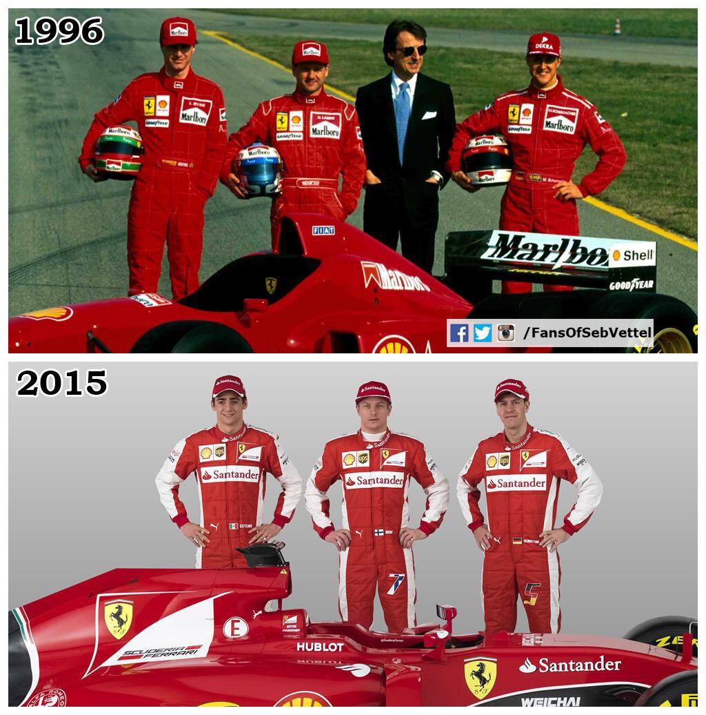 Vergleich Schumacher-Vettel, 1996-2015. Copyright: Twitter