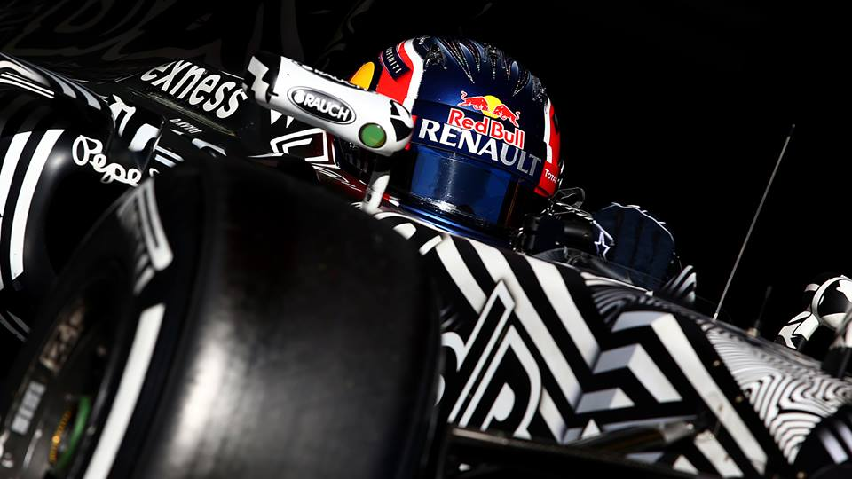 Daniel Ricciardo beim Test im Red Bull. Copyright: Red Bull Facebook