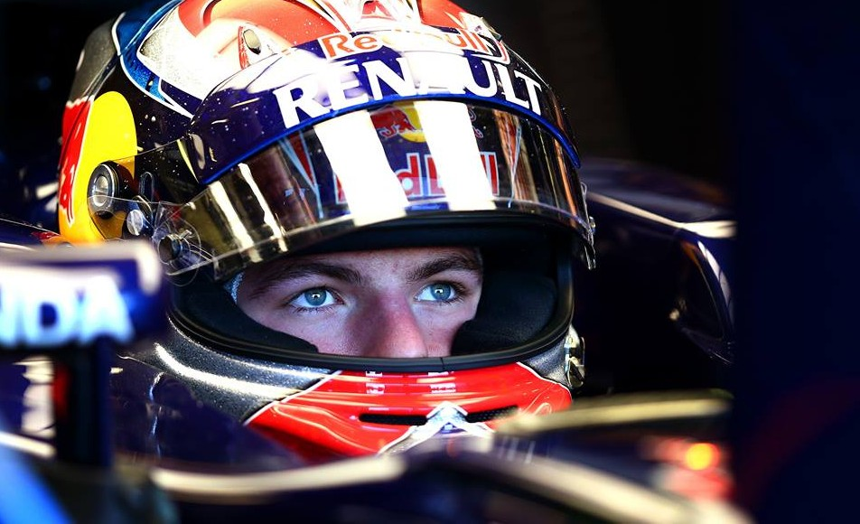 Max Verstappen im Toro Rosso-Cockpit. Copyright: Toro Rosso