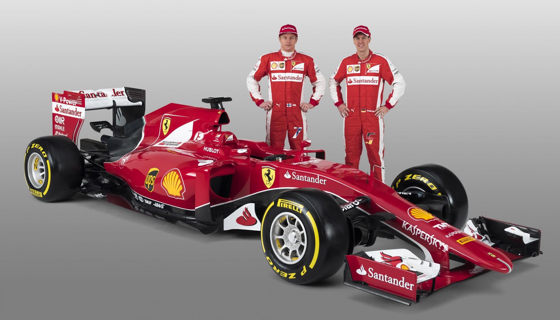 Vettel und Räikkönen. Copyright: Ferrari