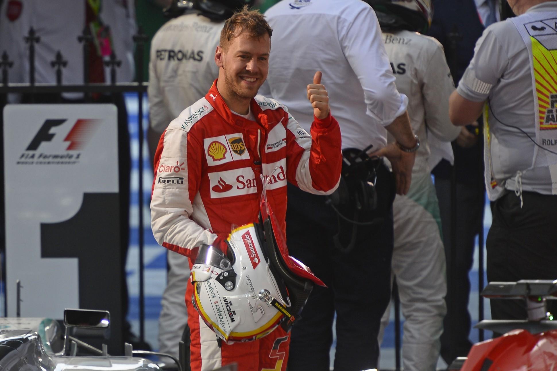 Vettel nach Rang drei in Australien. Copyright: Ferrari
