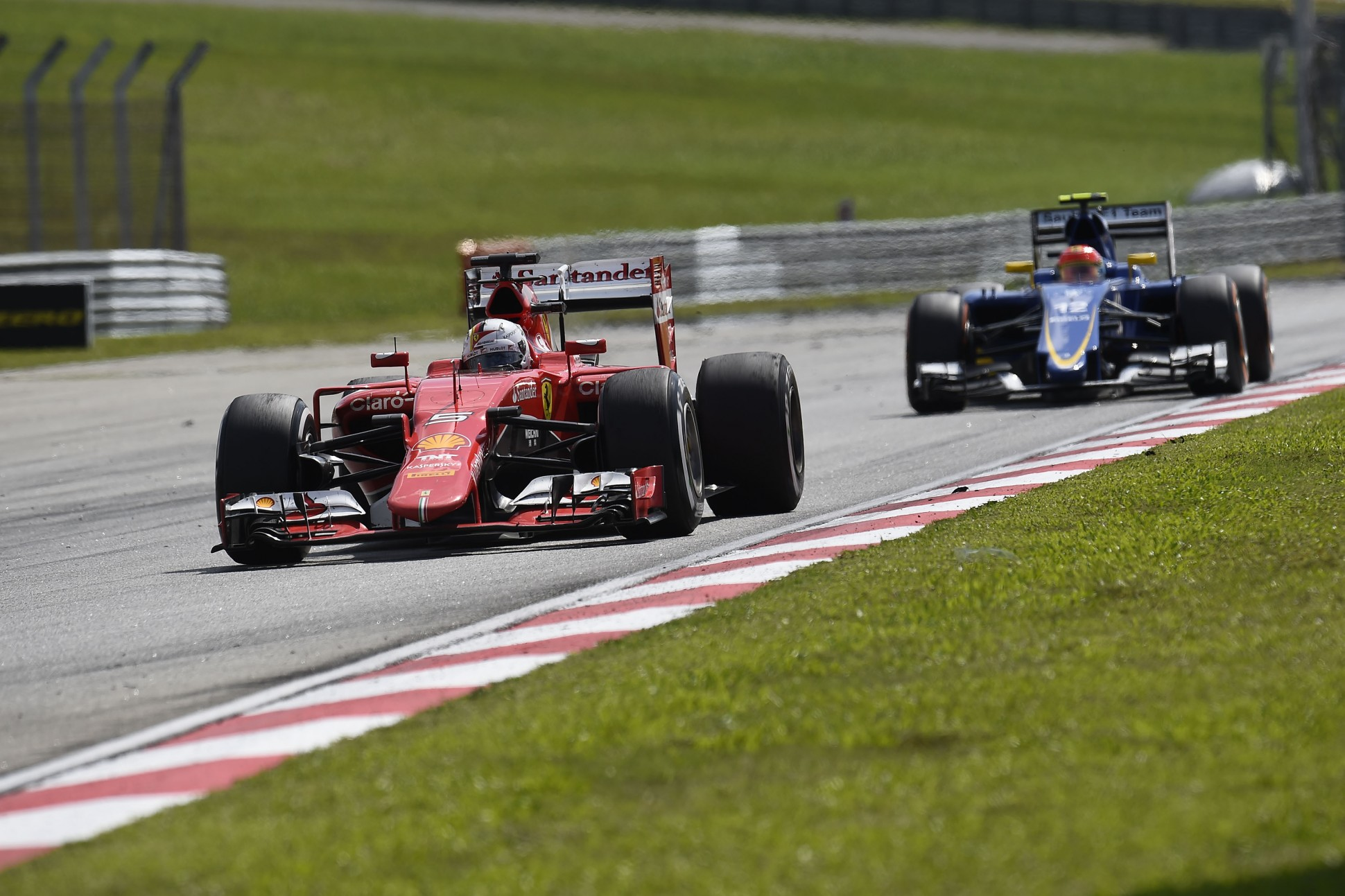 Vettel siegt in Malaysia. Copyright: Ferrari