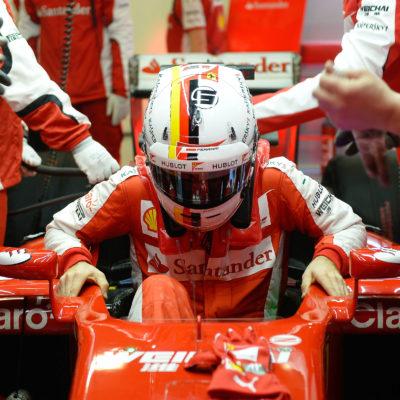Vettel beim Test in Barcelona. Copyright: Ferrari