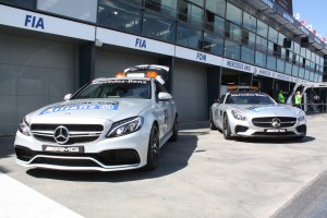 Safety- und Medical-Car. Copyright: F1-insider.com