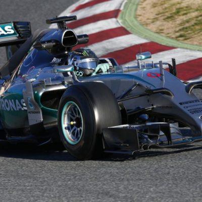Mercedes-Pilot Nico Rosberg in Barcelona. Copyright: Mercedes