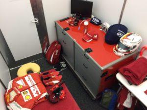 Vettels Fahrerraum. Copyright: F1-insider.com