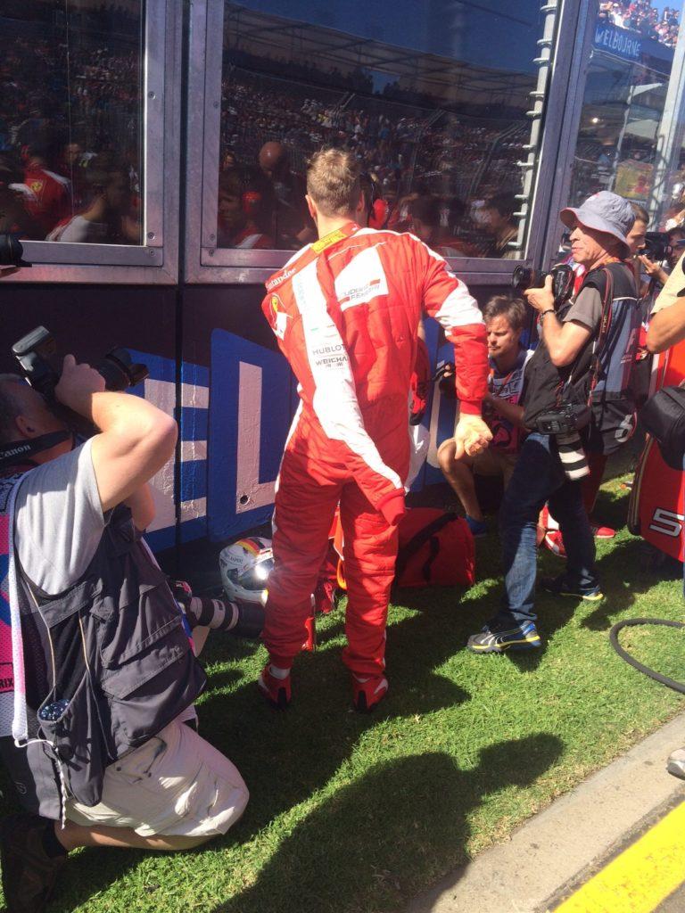 Sebastian Vettel kurz vorm Rennstart. Copyright: F1-insider.com