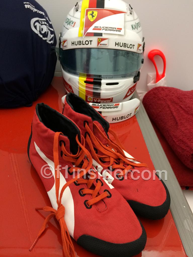 Vettels superleichter Rennschuh. Copyright: F1-insider.com