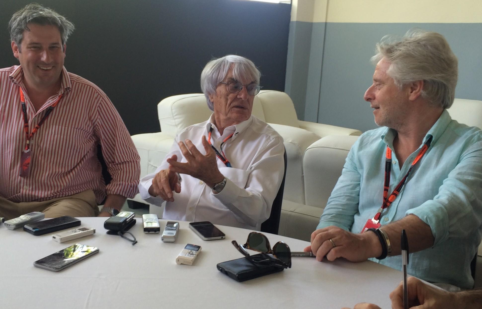 Ecclestone in seiner Presserunde. Copyright: F1-insider.com