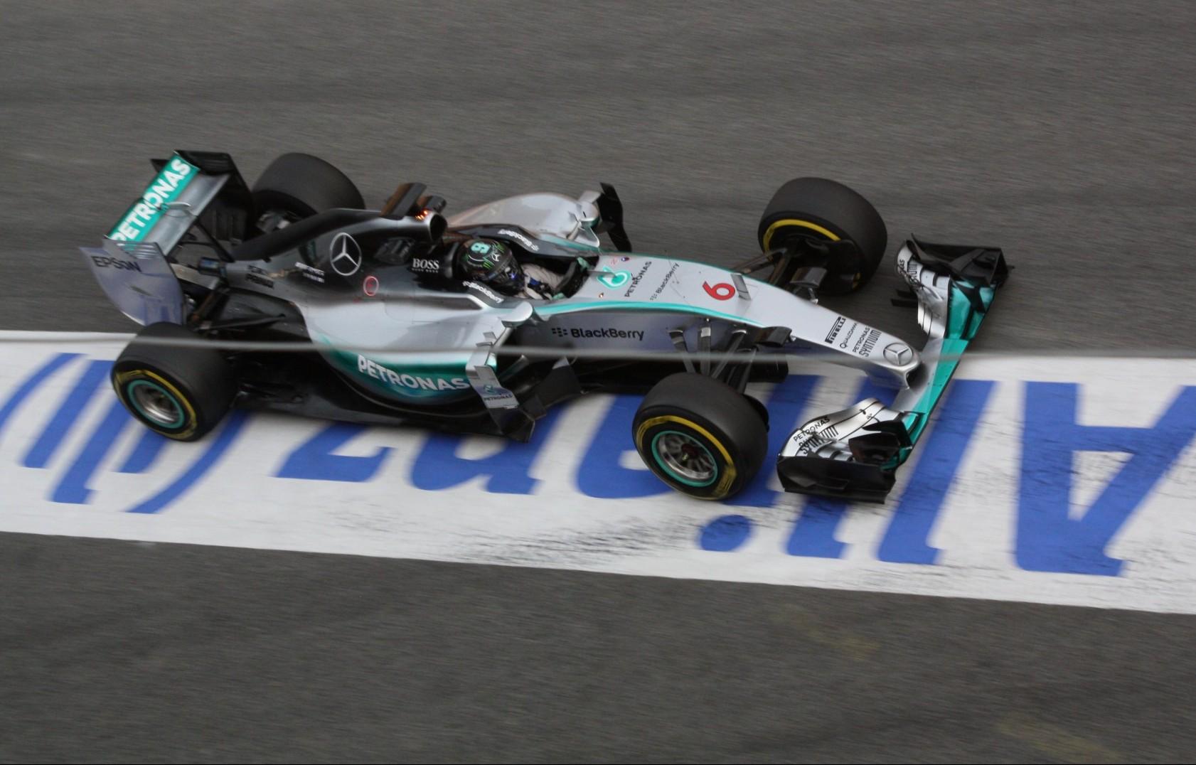 Nico Rosberg im Mercedes. Copyright: F1-insider.com