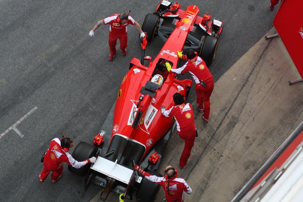 Ferrari Test Barcelona. Copyright: F1-insider.com