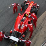 Ferrari in Barcelona. Copyright: F1-insider.com