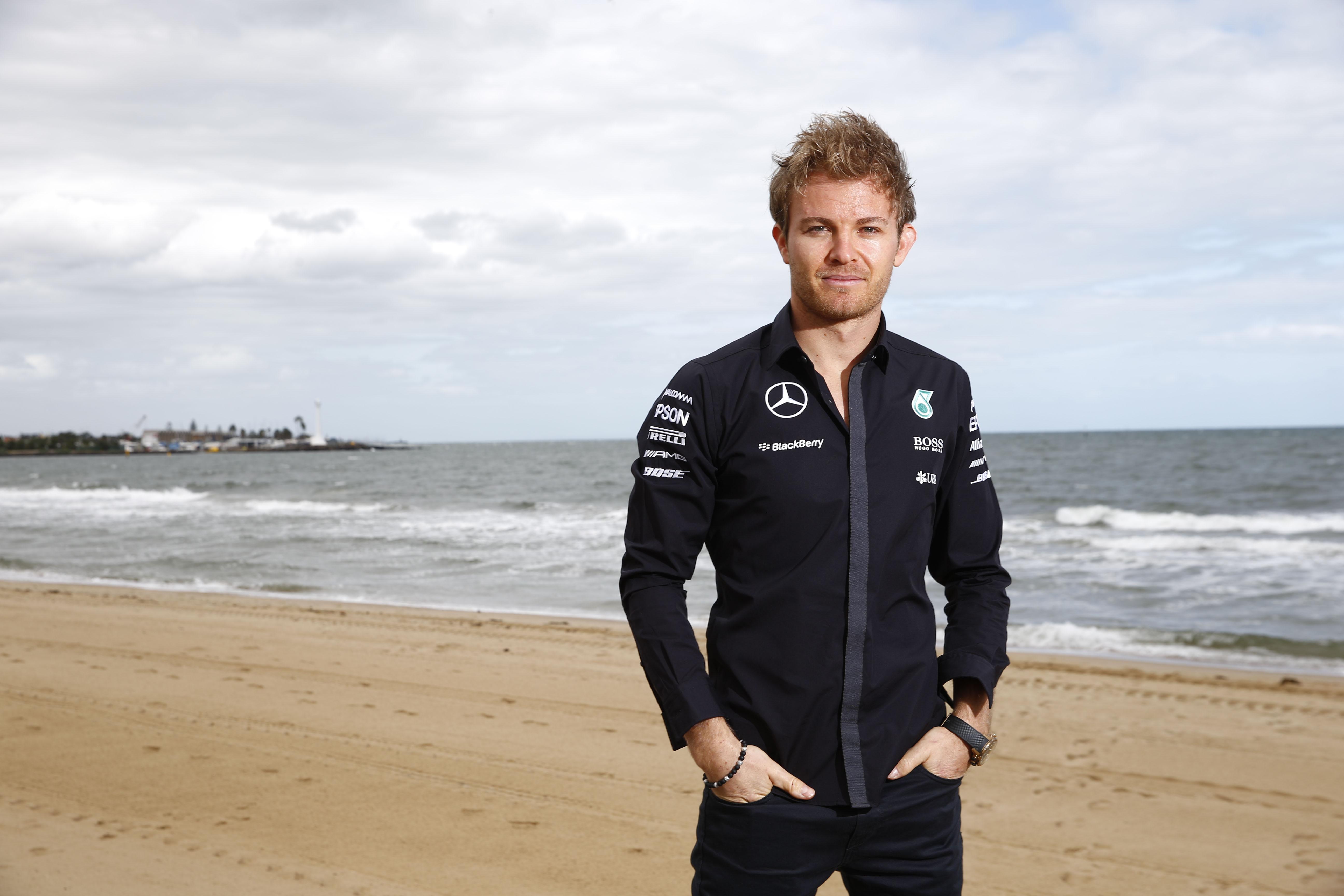 Nico Rosberg St. Kilda Beach. Copyright: Mercedes