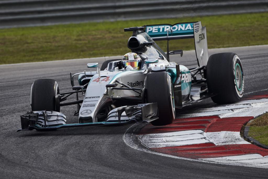 Hamilton in Malaysia. Copyright: Mercedes