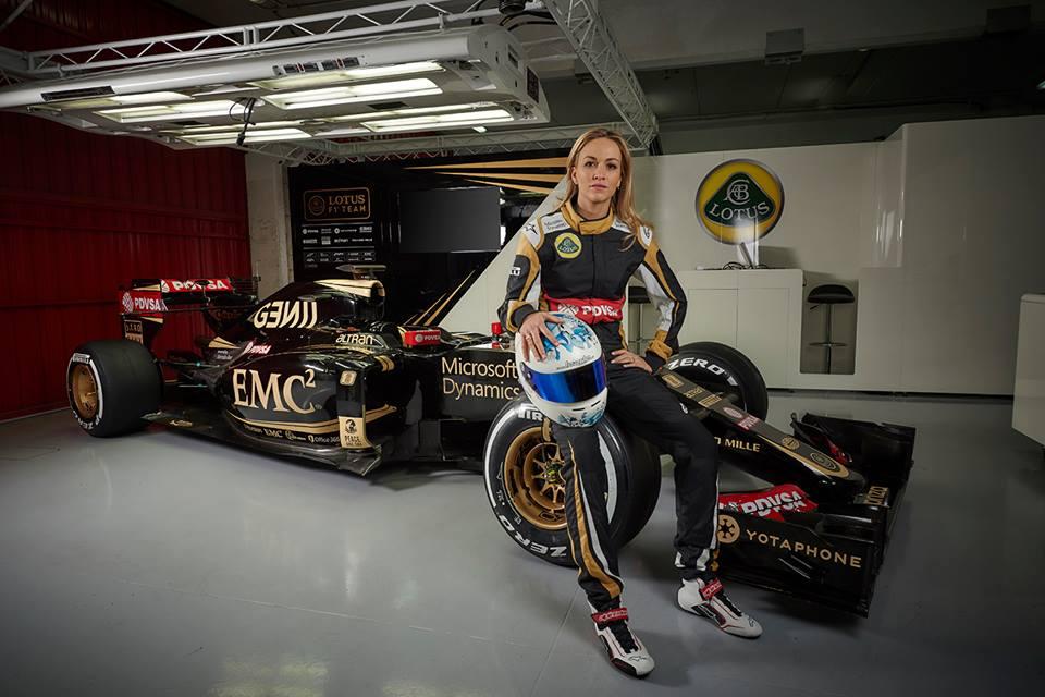 Lotus-Testfahrerin Carmen Jorda. Copyright: Lotus