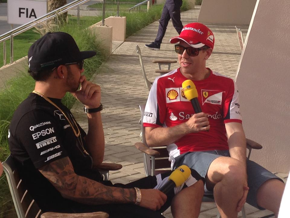 Vettel und Hamilton im Doppelinterview. Copyright: RTL