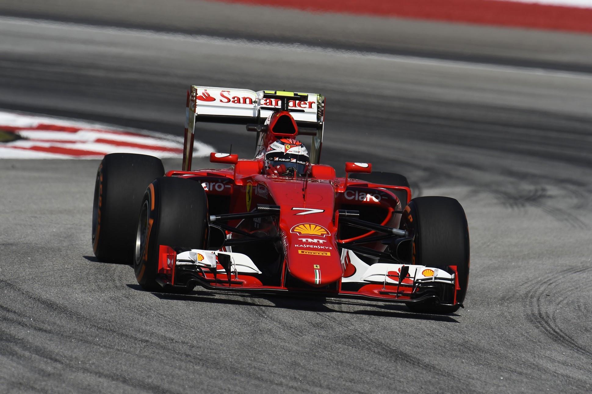 Räikkönen im Ferrari in Malaysia. Copyright: Ferrari
