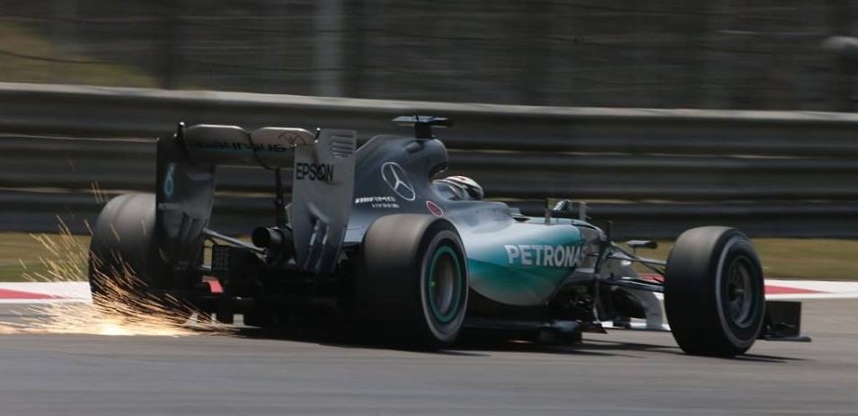 Hamilton in Shanghai. Copyright: Mercedes