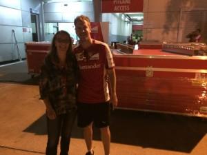 Vettel und Bianca Garloff nach dem GP Malaysia