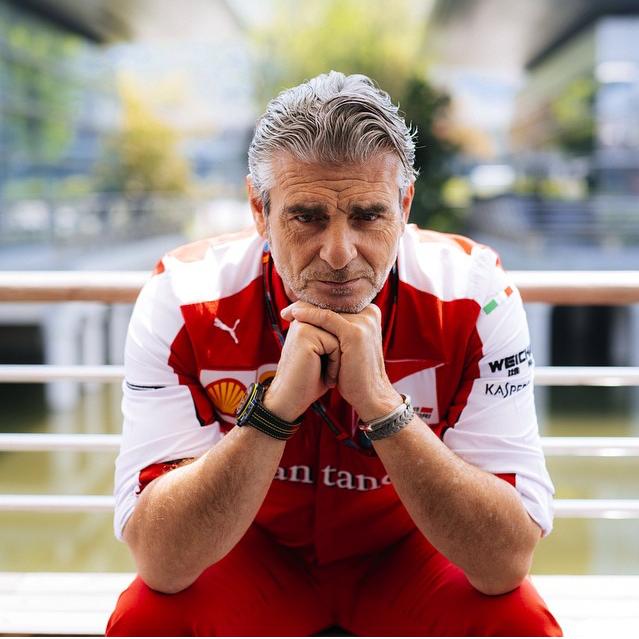 Ferrari-Teamchef Arrivabene. Copyright: Ferrari