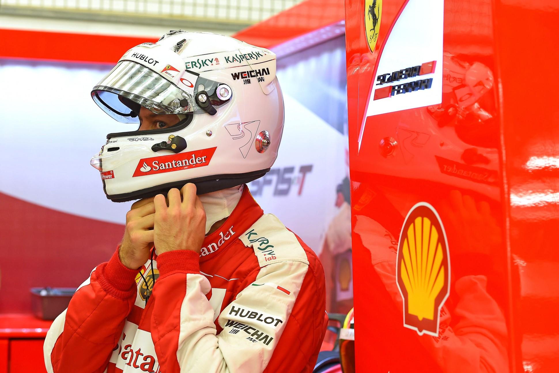 Vettel in Bahrain. Copyright: Ferrari