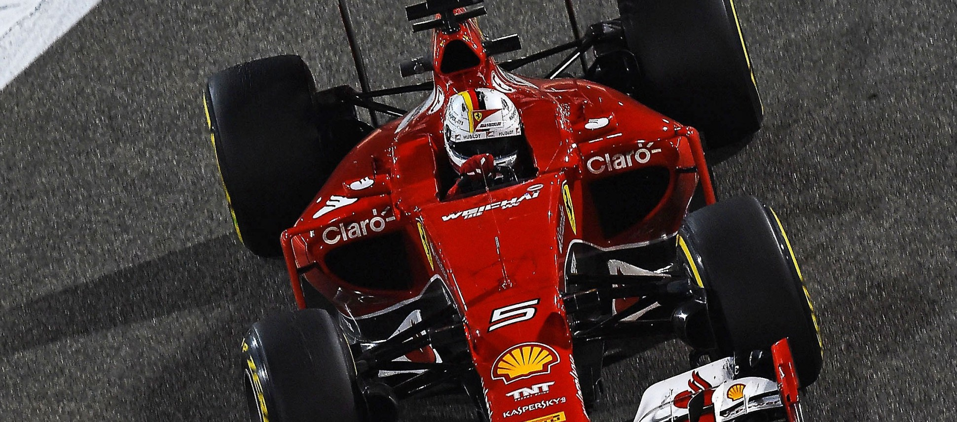 Vettel im Ferrari. Copyright: Ferrari