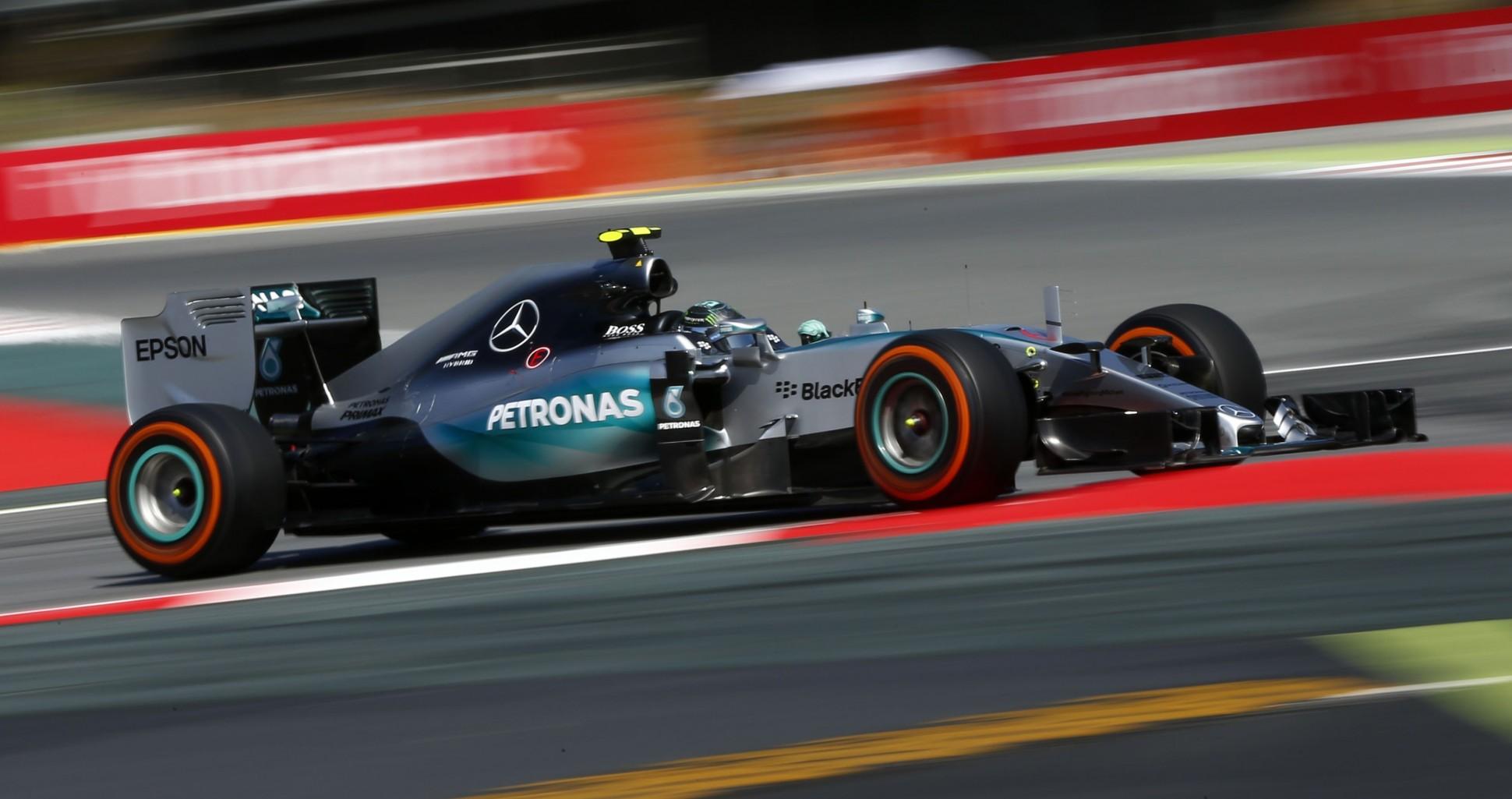 Rosberg siegt in Spanien. Copyright: Mercedes