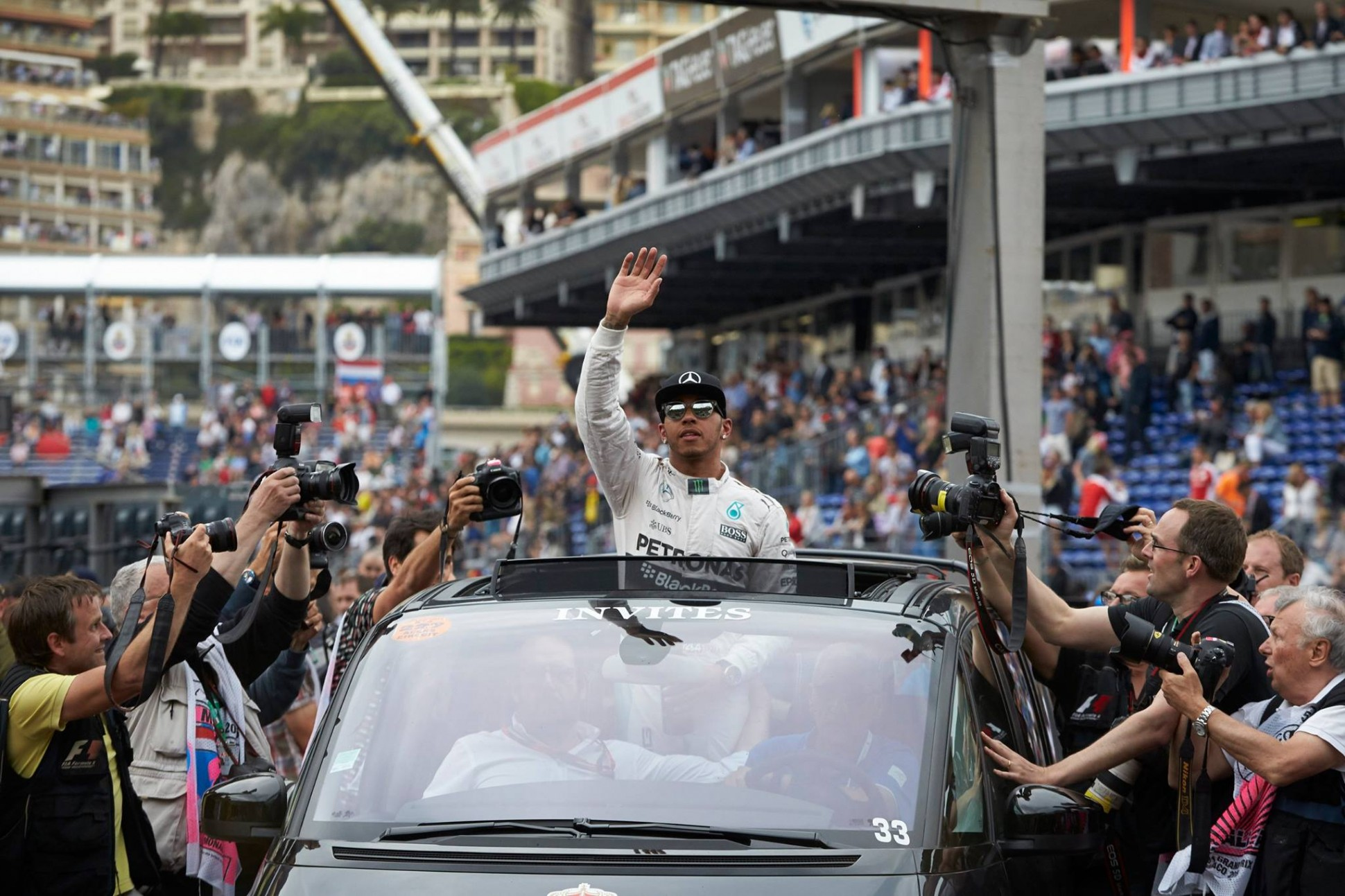 Hamilton in Monaco. Quelle: facebook