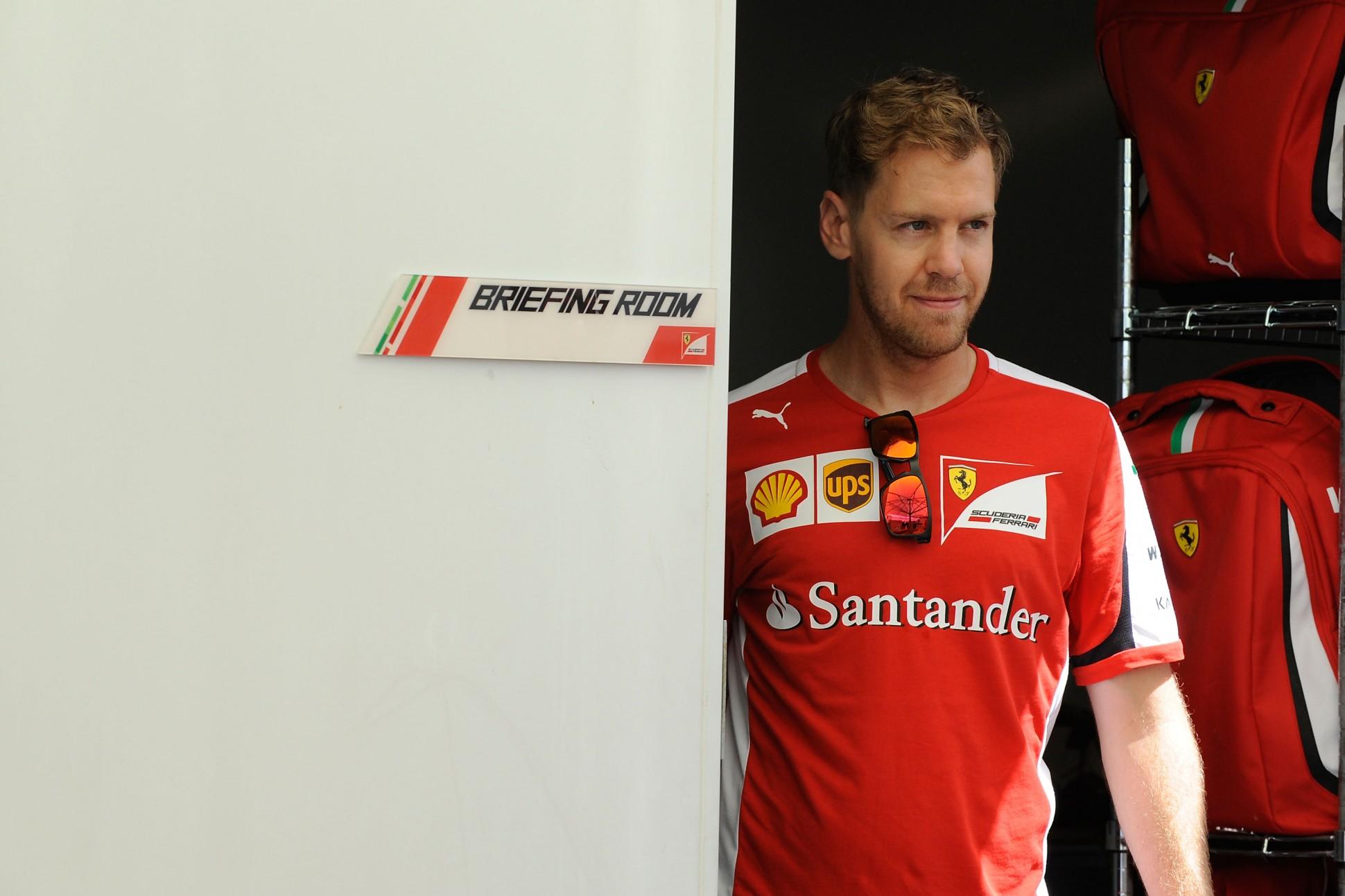 Vettel in Montreal. Copyright: Ferrari