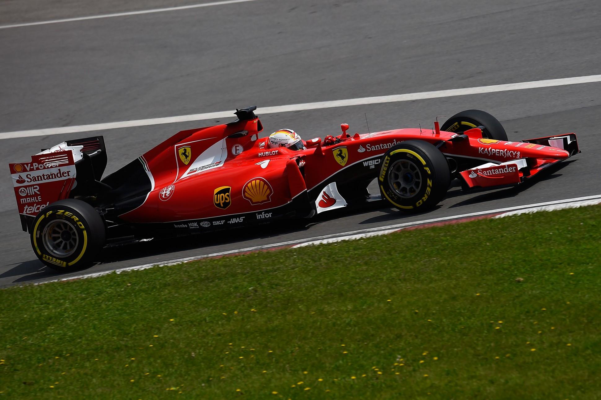 Vettel in Kanada. Copyright: Ferrari