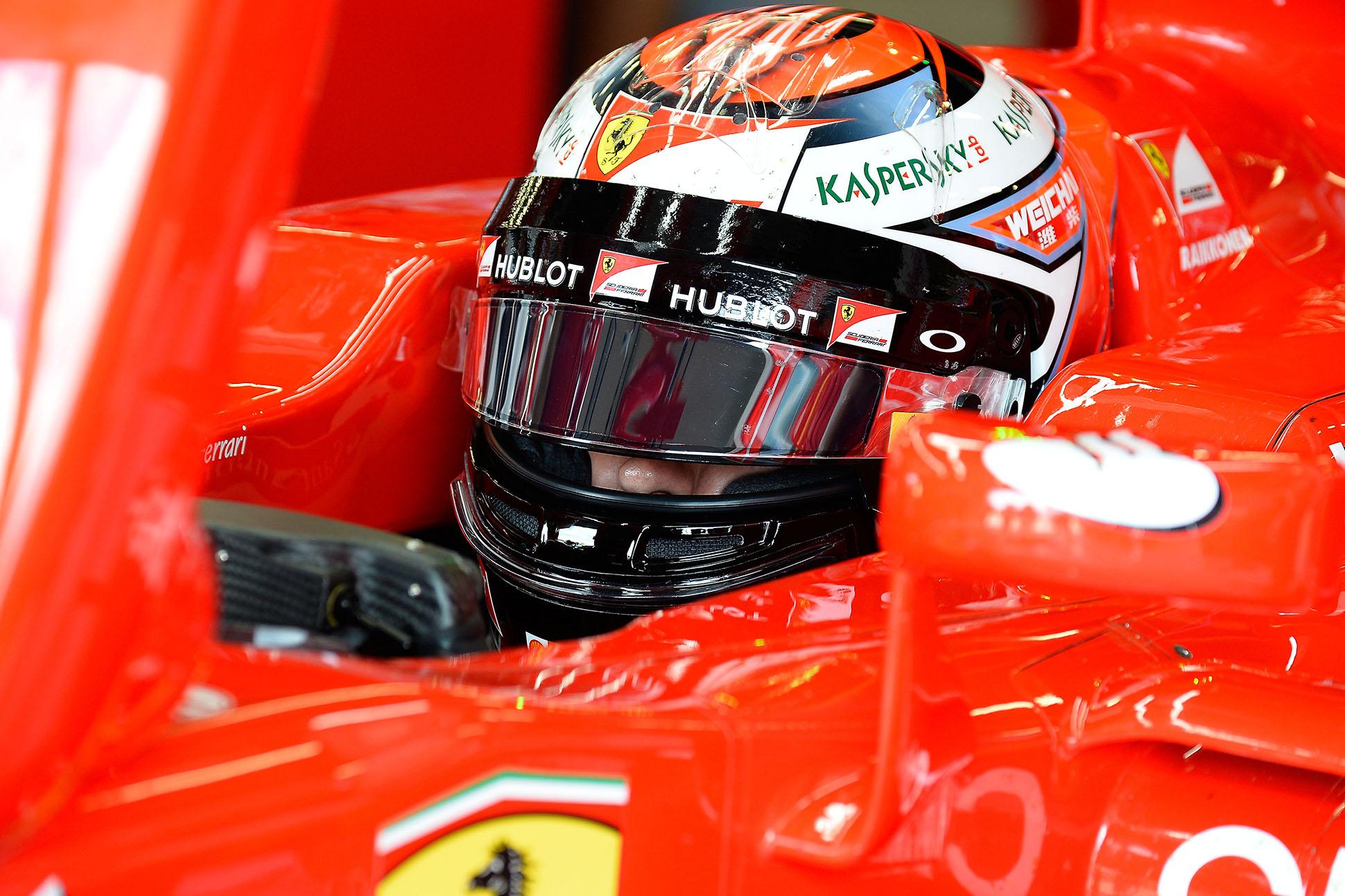 Kimi Räikkönen in Silverstone. Copyright: Ferrari