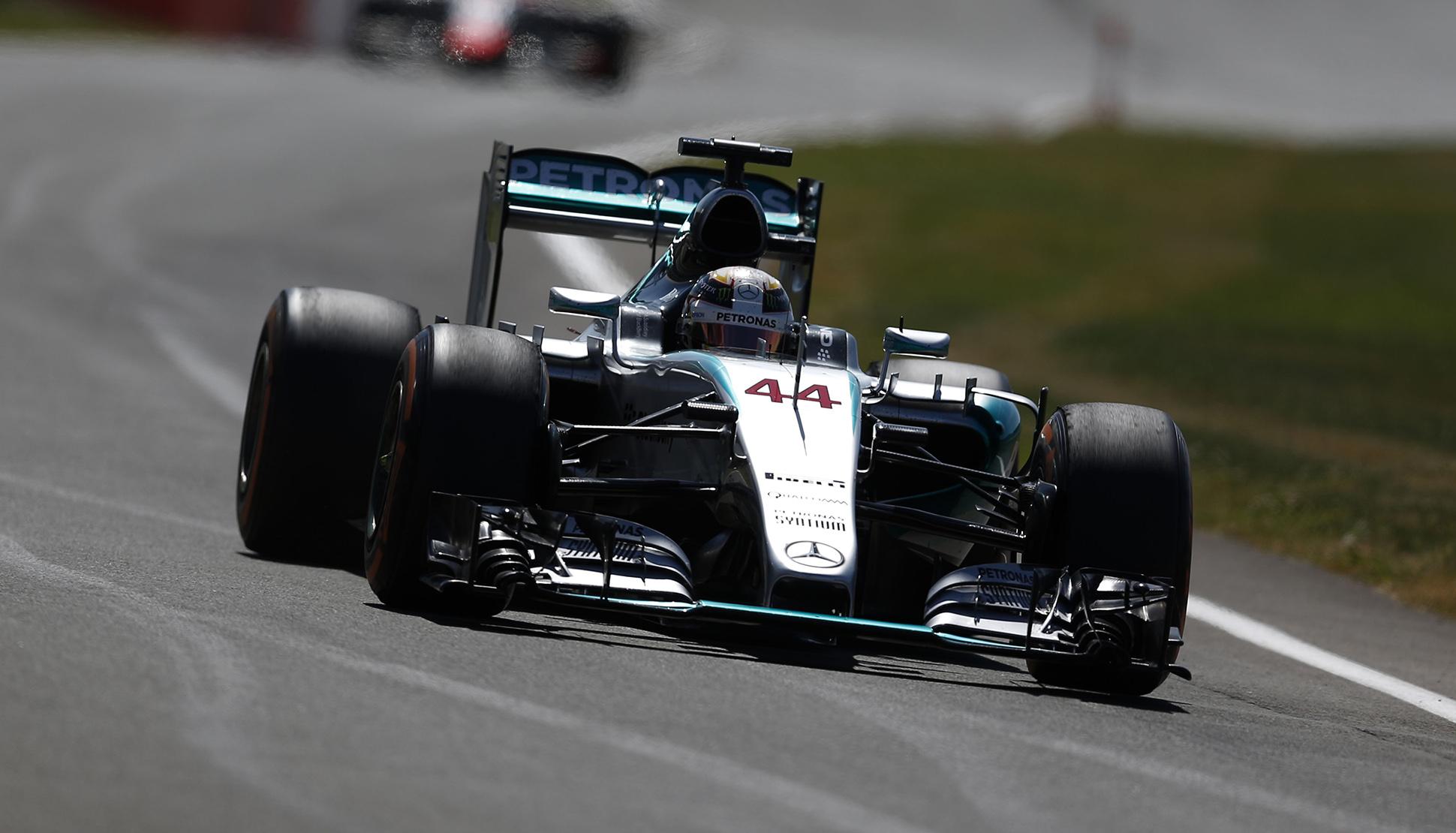 Hamilton steht in Silverstone auf Pole. Copyright: Mercedes