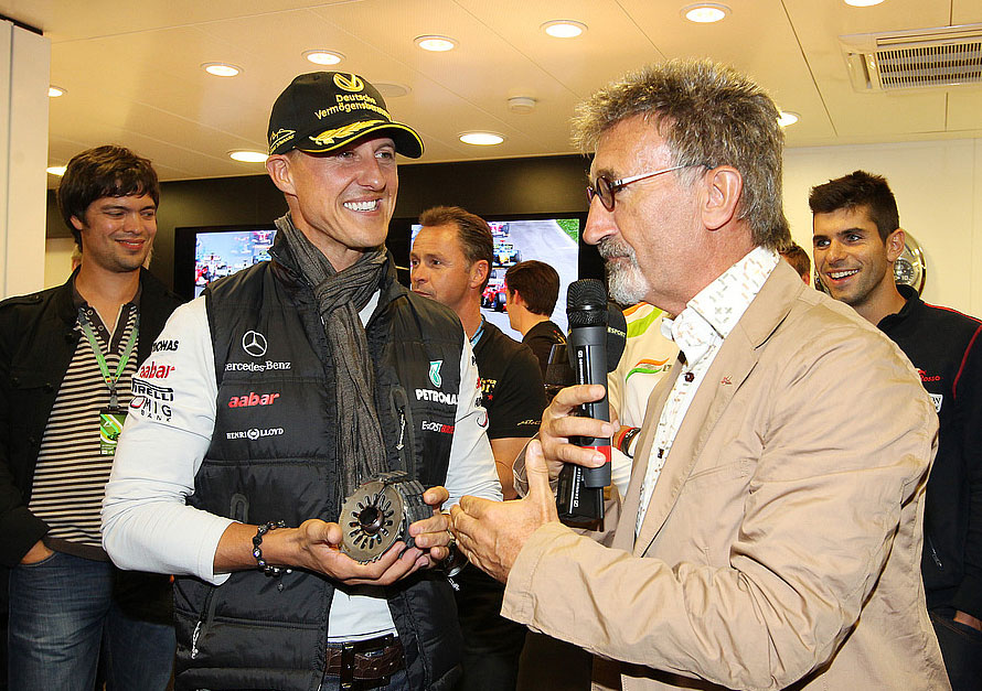 Schumacher und Jordan 2012 in Spa. Copyright: Mercedes