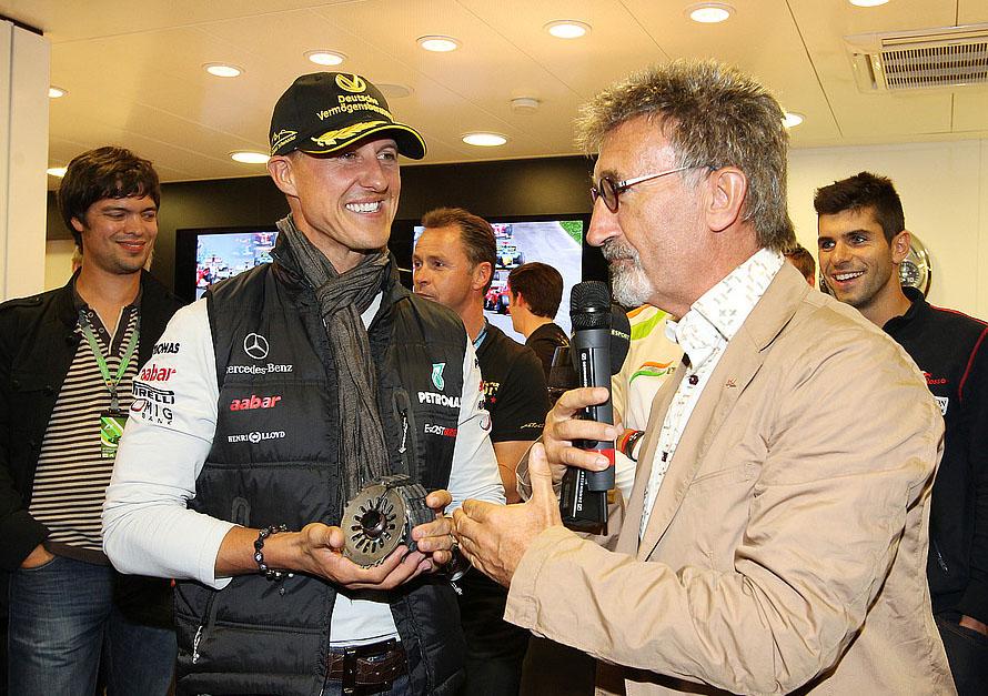 Schumacher und Jordan 2012 in Spa. Copyright: Mercedes