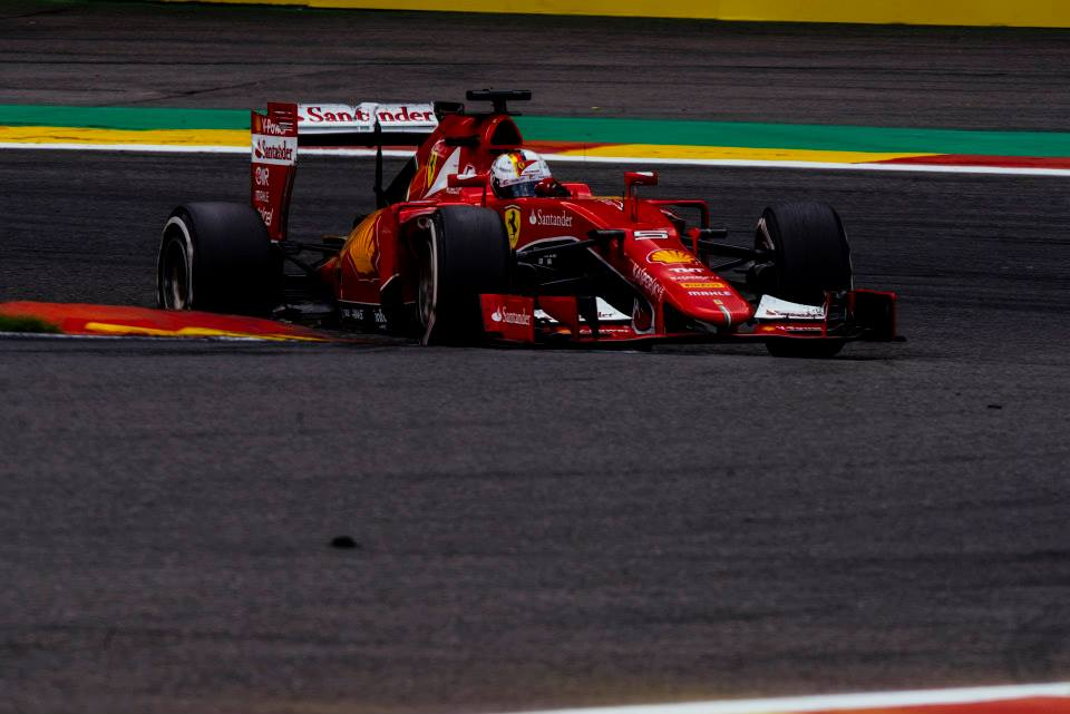 Vettel in Spa. Copyright: Ferrari
