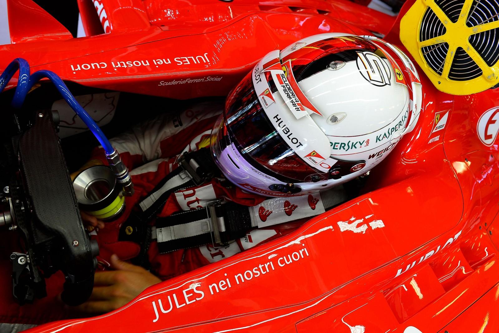 Vettel in Ungarn. Copyright: Ferrari
