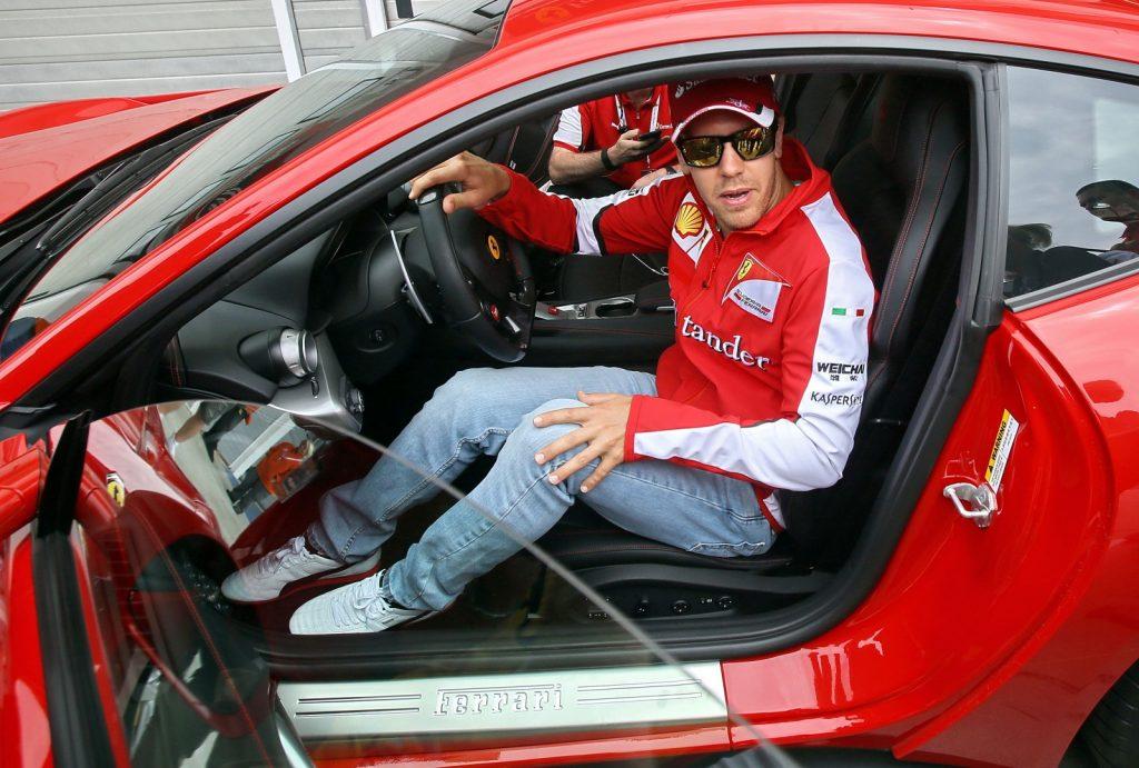 Vettel in einem Ferrari. Copyright: F1-insider.com