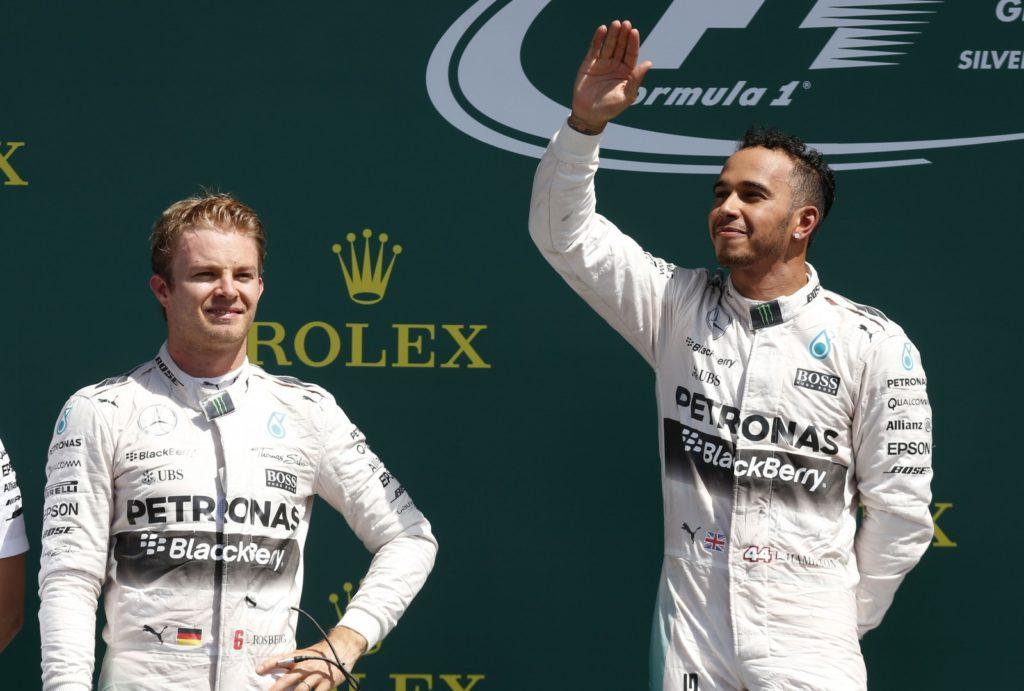 Rosberg und Hamilton. Copyright: Mercedes