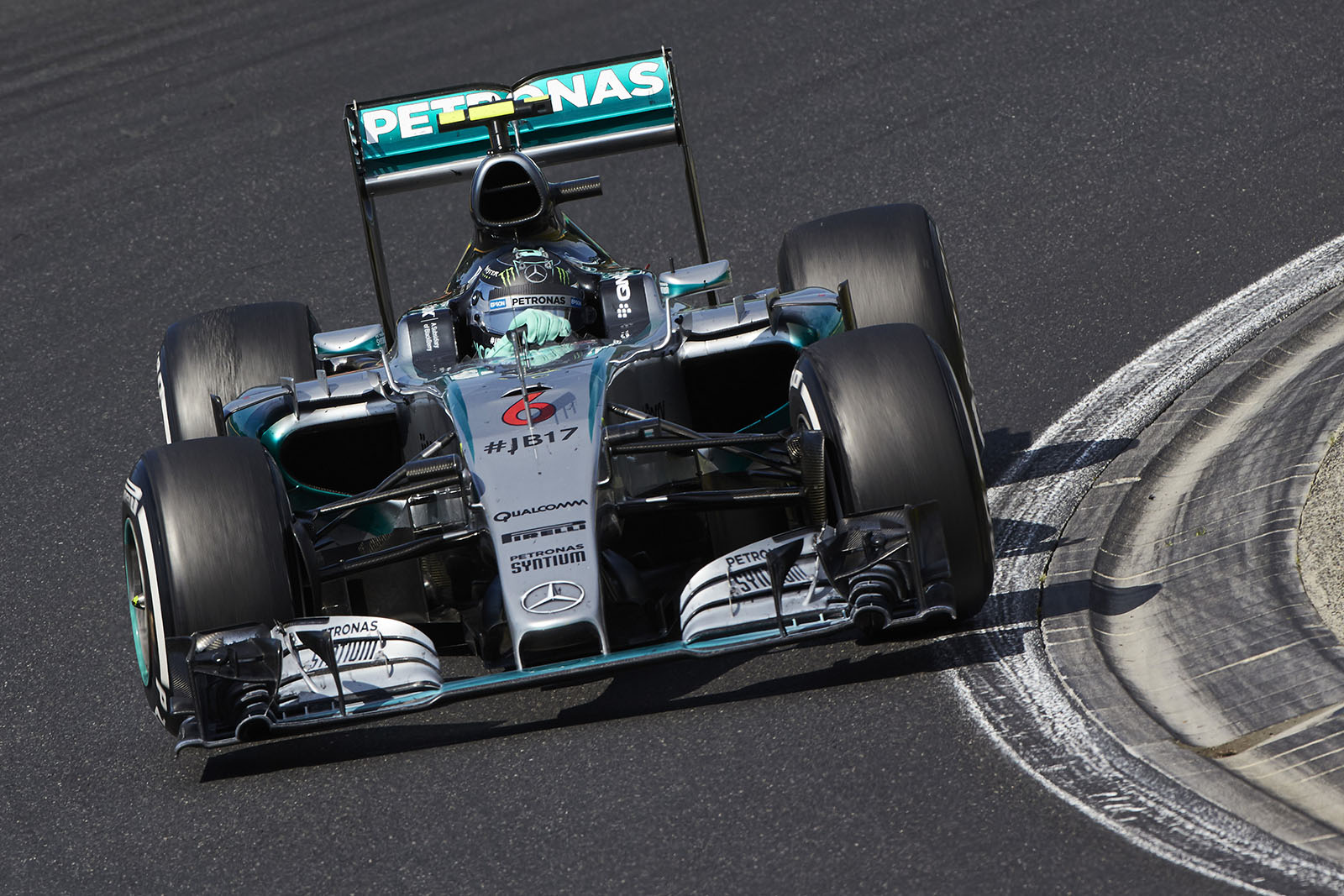 Rosberg wurde in Ungarn nur Achter. Copyright: Mercedes