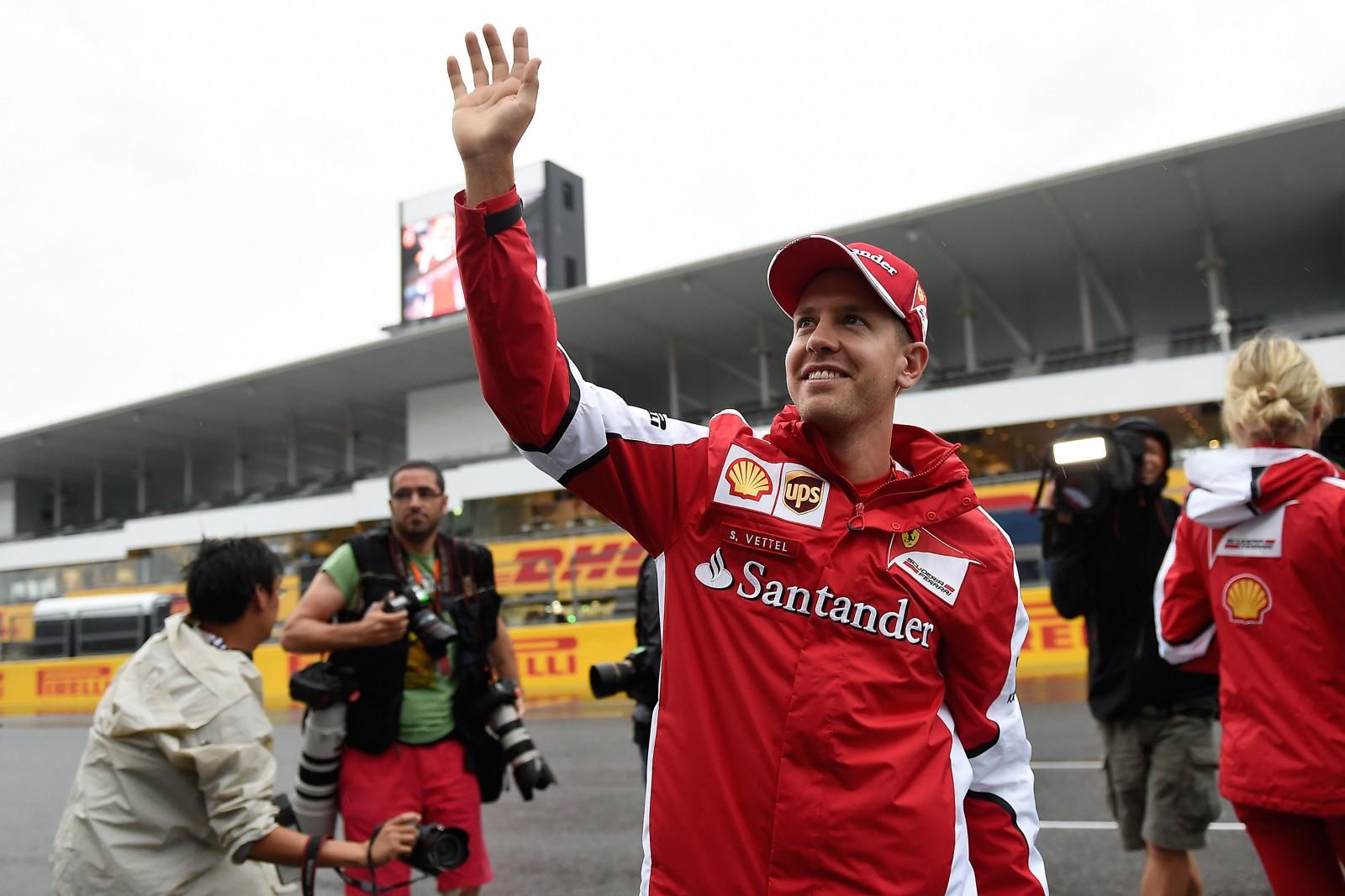 Vettel in Japan. Copyright: Ferrari