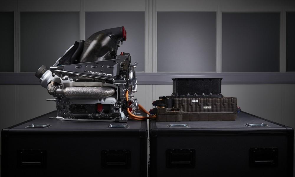 Mercedes-F1-Motor. Copyright: Hersteller
