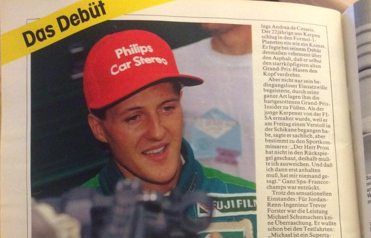 Schumacher in der AUTO ZEITUNG 1991