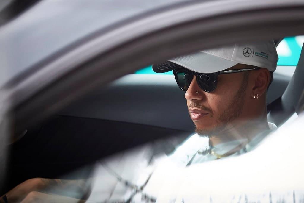Lewis Hamilton Im Auto